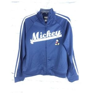 Disney Mickey Mouse Varsity Track Jacket Blue L